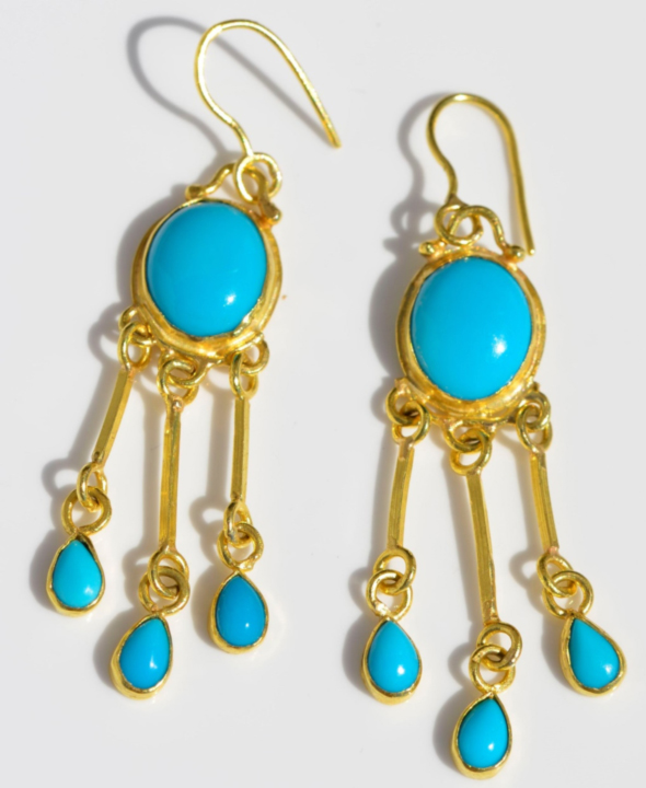 Turquoise and Gold together
